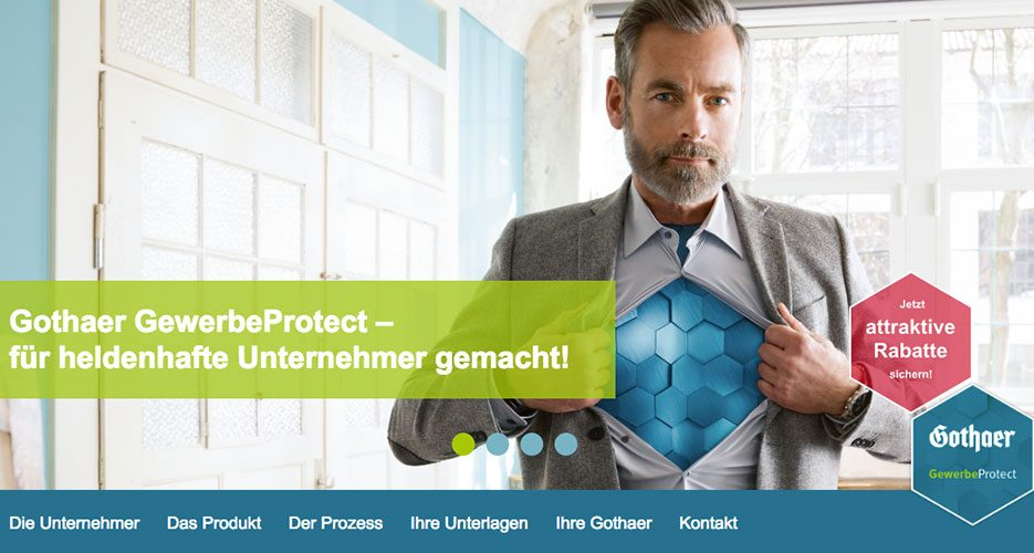 Für heldenhafte Unternehmer: Das Vertriebspaket zur Gothaer GewerbeProtect