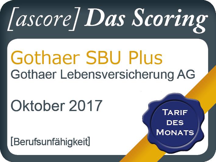Tarif des Monats Oktober: Gothaer SBU Plus erneut ausgezeichnet