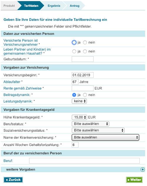 screenshot-AKS-Rechner-Tarifrechner